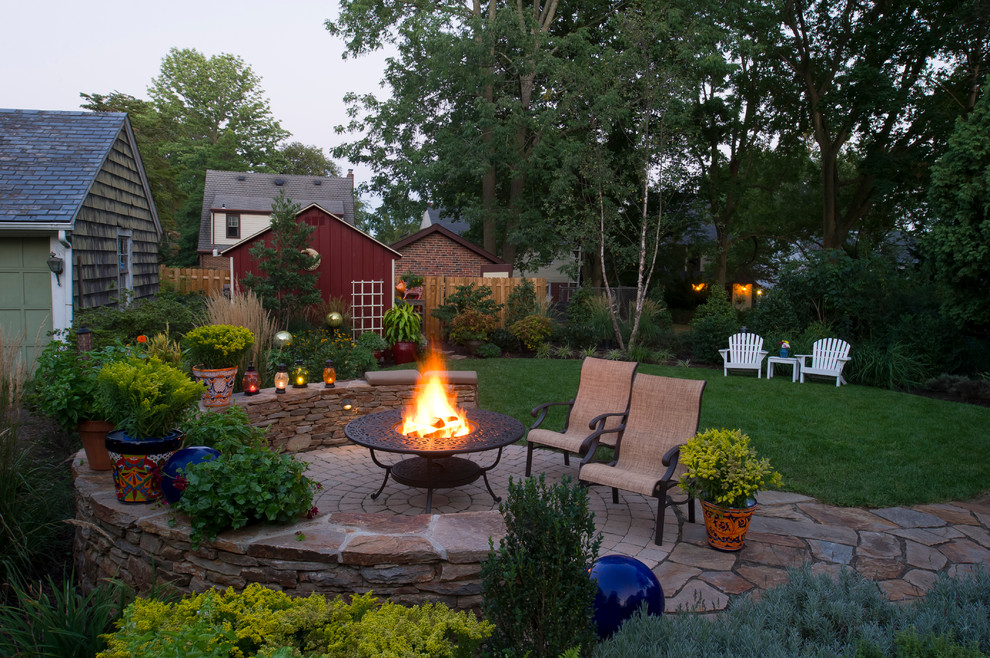 Wood Burning Fire Pit Patio Traditional with Adirondack Chair Backyard Fire Pit Lawn Lawn Furniture Outdoor Furniture Red Barn