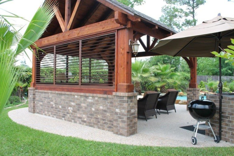 Wood Dog Crate Deck Traditional with Bahama Shutters Deck Exterior Plantation Shutters Exterior Shutters Gazebo Outdoor Enclosure Outdoor