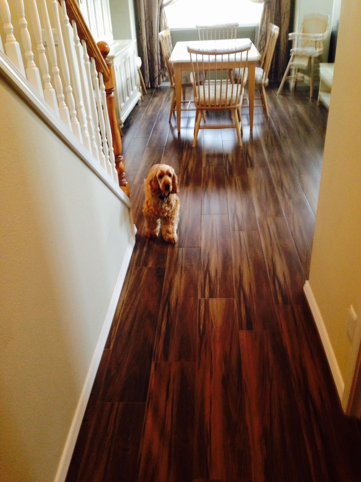 Wood Look Porcelain Tile Hall Craftsman with Acacia Hardwood Floors Hardwood Floors Porcelain Wood Look Tile Wood Floors With