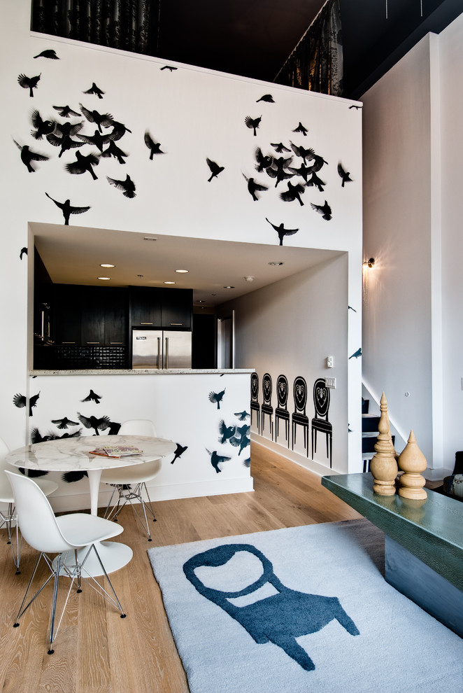 wooden bird houses Kitchen Contemporary with amazing loft area rug artwork black kitchen CA CA ASID CA Home