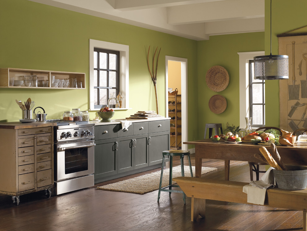Wooden Bird Houses Kitchen Contemporary with None