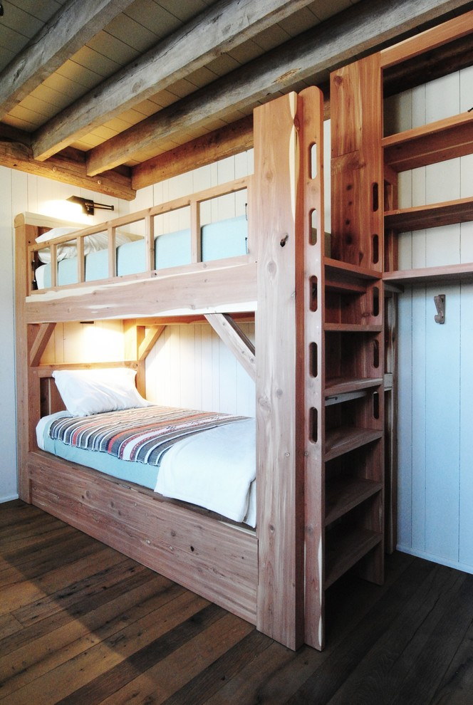 Wooden Bunk Beds Kids Rustic with Exposed Wood Beams Kids Built in Bunk Beds Rustic Modern Wall Sconce