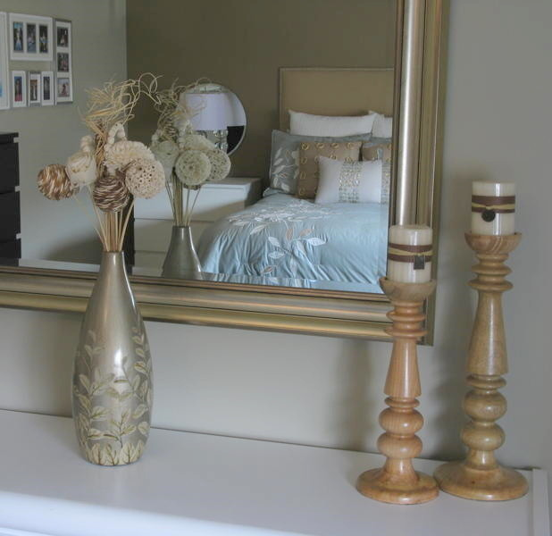 Wooden Candle Holders Bedroom Modern with Candle Holders Candle Sticks Flowers Gold Gold Mirror Lamps Mirror Tan Vase