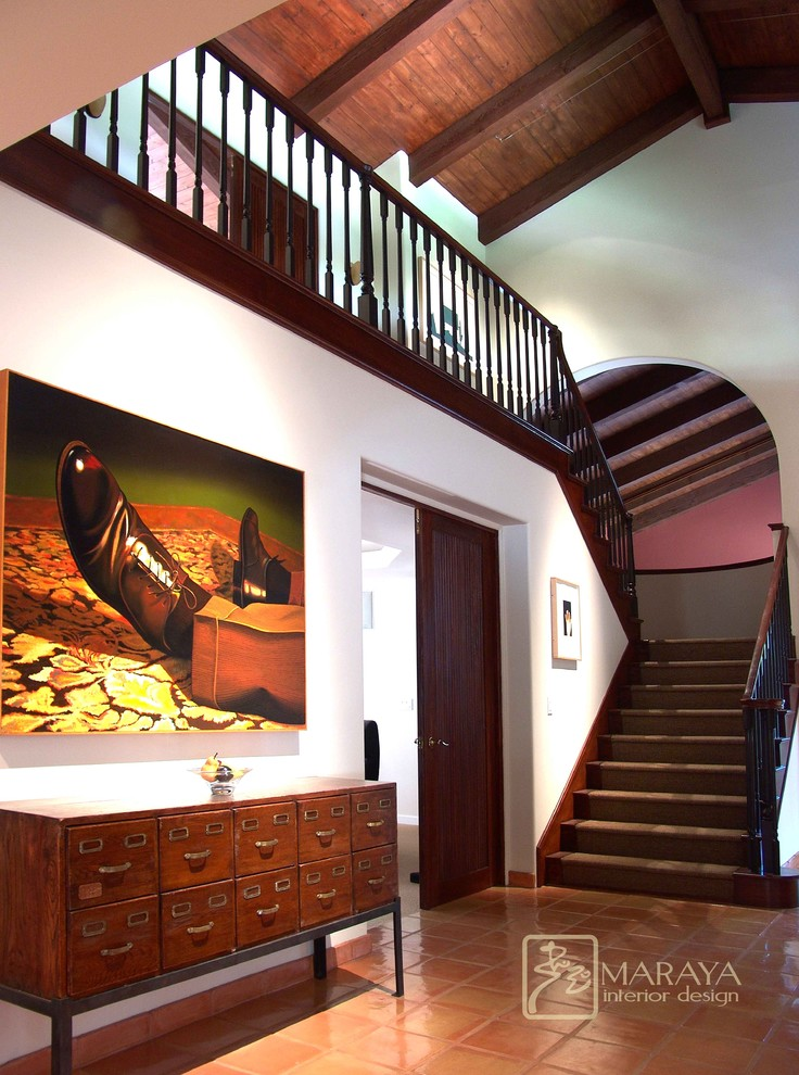 Wooden File Cabinets Hall Contemporary with Arch Beams Butler Ceiling Comfortable Console Contemporary Dark Did It Entry Exposed