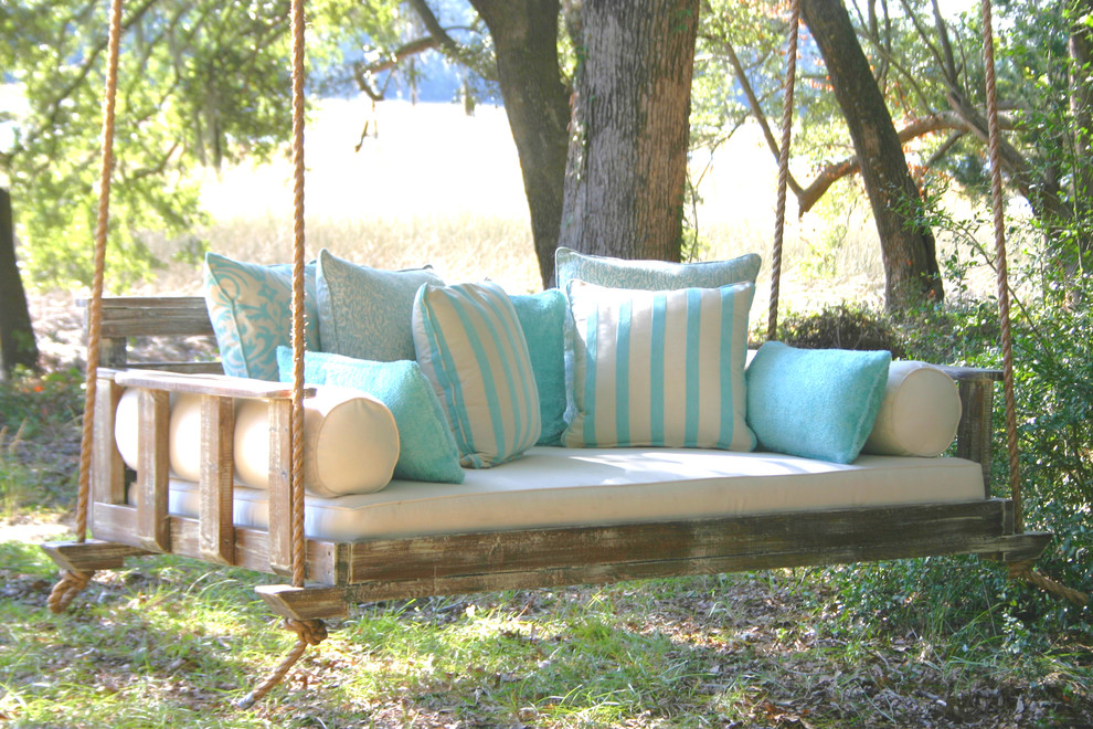 wooden porch swings Porch Farmhouse with bed swing day bed that swings handcrafted porch swing most comfortable porch