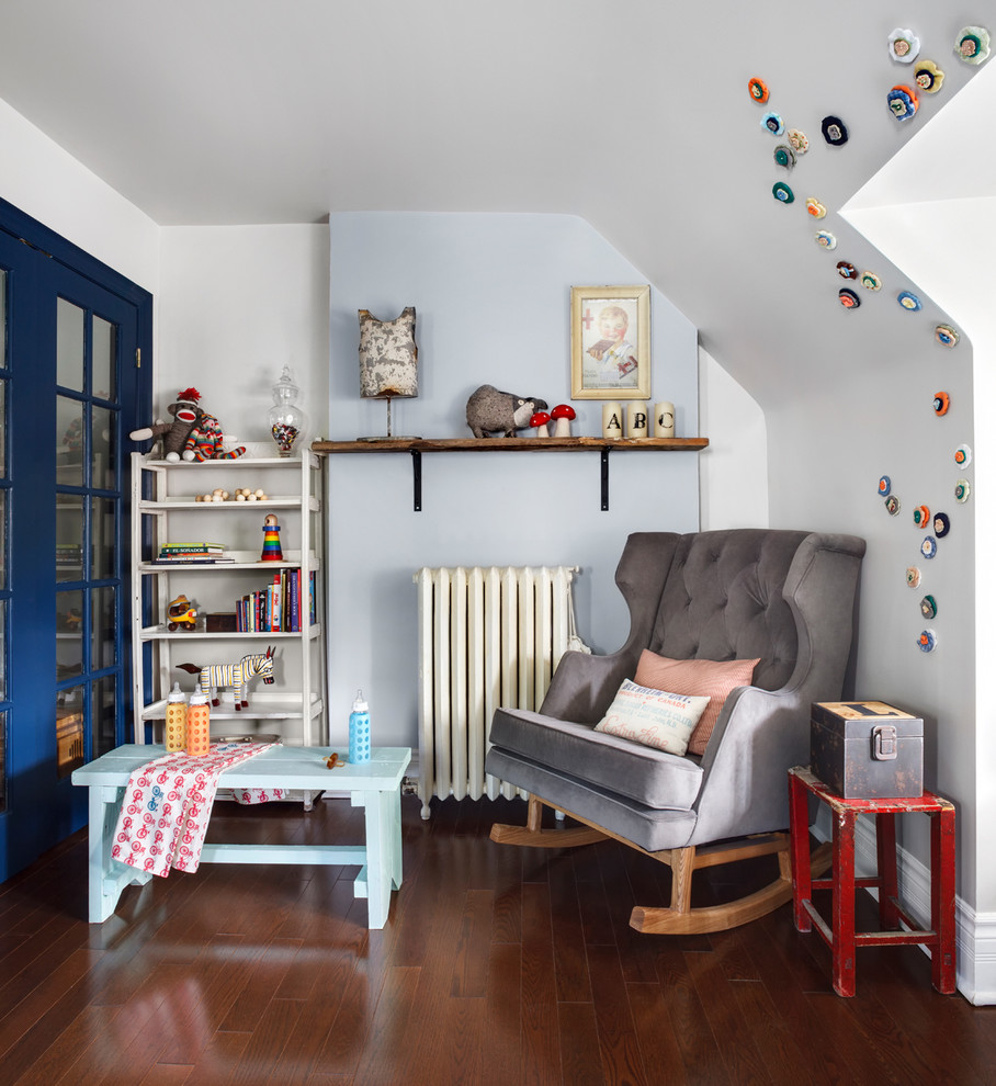 wooden rocking chair Nursery Contemporary with antiques Baby Room blue french doros bracket tagre Nursery Play Table radiator