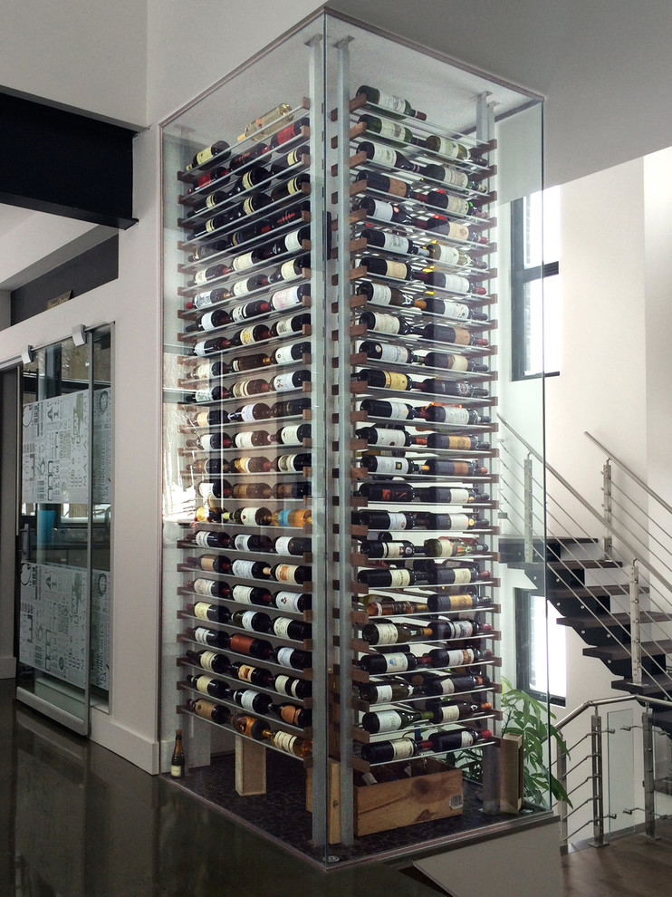 Wooden Wine Racks Wine Cellar Contemporary with 12 en Cave Aluminium Contemporary Wine Cellar Glass Cube Glass Room Glass