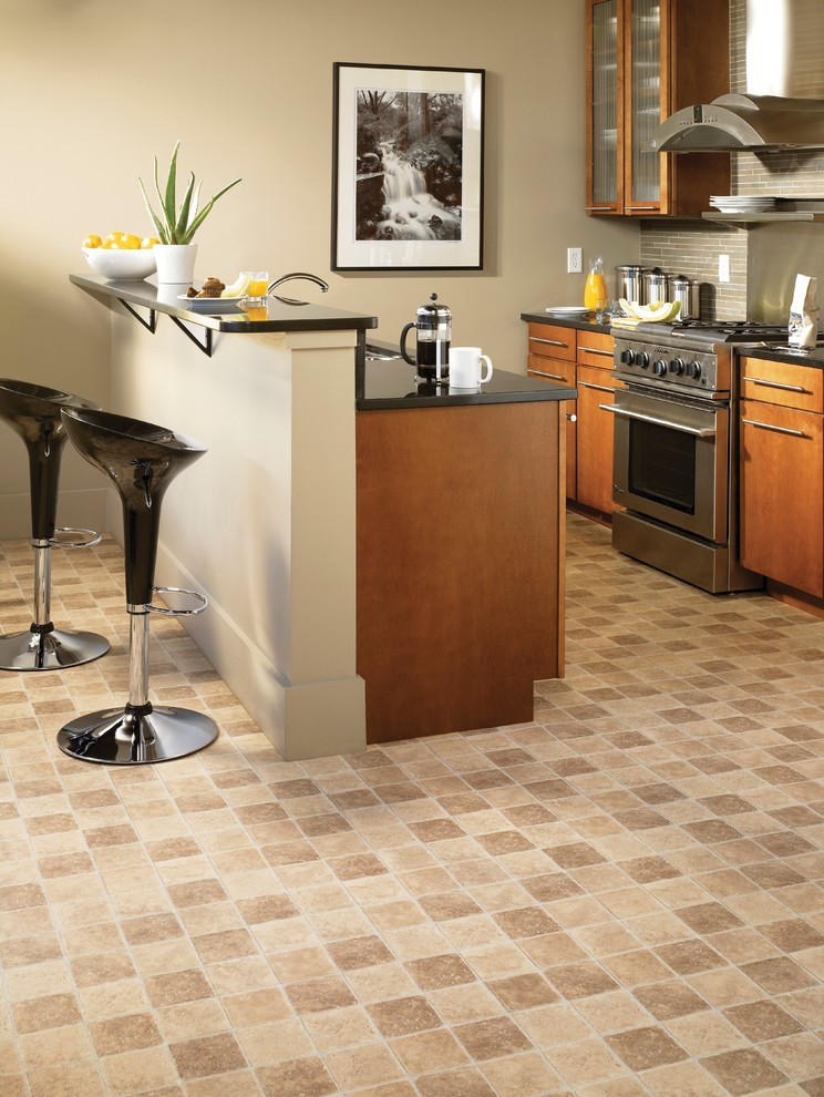 Woven Rug Kitchen Contemporary with Flooring Ideas Kitchen Kitchen Floor Ideas Kitchen Flooring Kitchen Remodeling Tarkett Tarkett