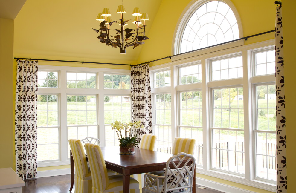 wrap around curtain rod 96 to 144 dining room traditional crown molding chairs table large windows pendant lighting upholstered canada double