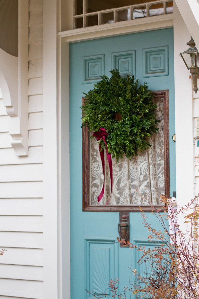 Wreaths for Front Door Entry Traditional with Boxwood Christmas Ny Rhinebeck Wreath