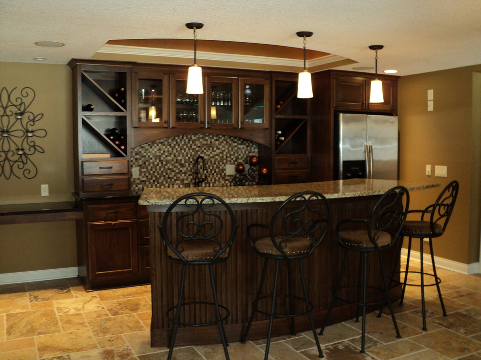 Wrought Iron Bar Stools Basement Traditional With Bar Area