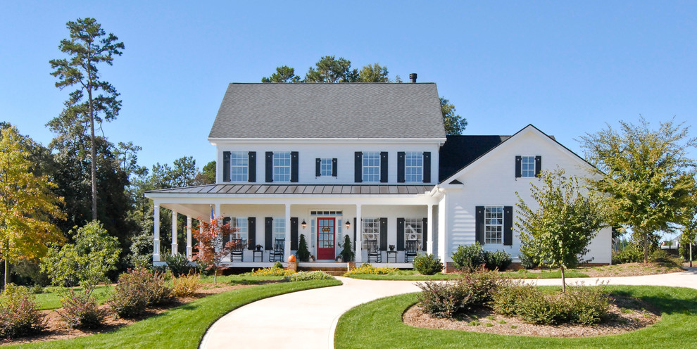 X Video Rocker Pro Series Black Exterior Farmhouse with Columns Contemporary Farmhouse Covered Entry Covered Porch Curved Walkway Dutch Gable Roof
