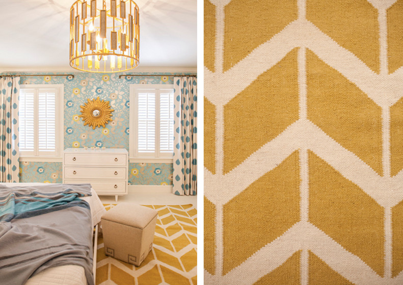 Yellow Chevron Rug Kids with Blues and Yellow Chevron Rug Elegant Girls Rooms Lucy and Company Upholstered2