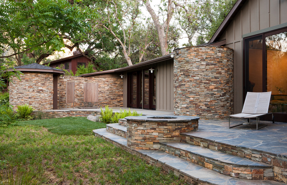 Yosemite Home Decor Exterior Rustic with Beige Exterior Beige Siding Brown Exterior Brown Siding Grass Lawn Outdoor Chaise1