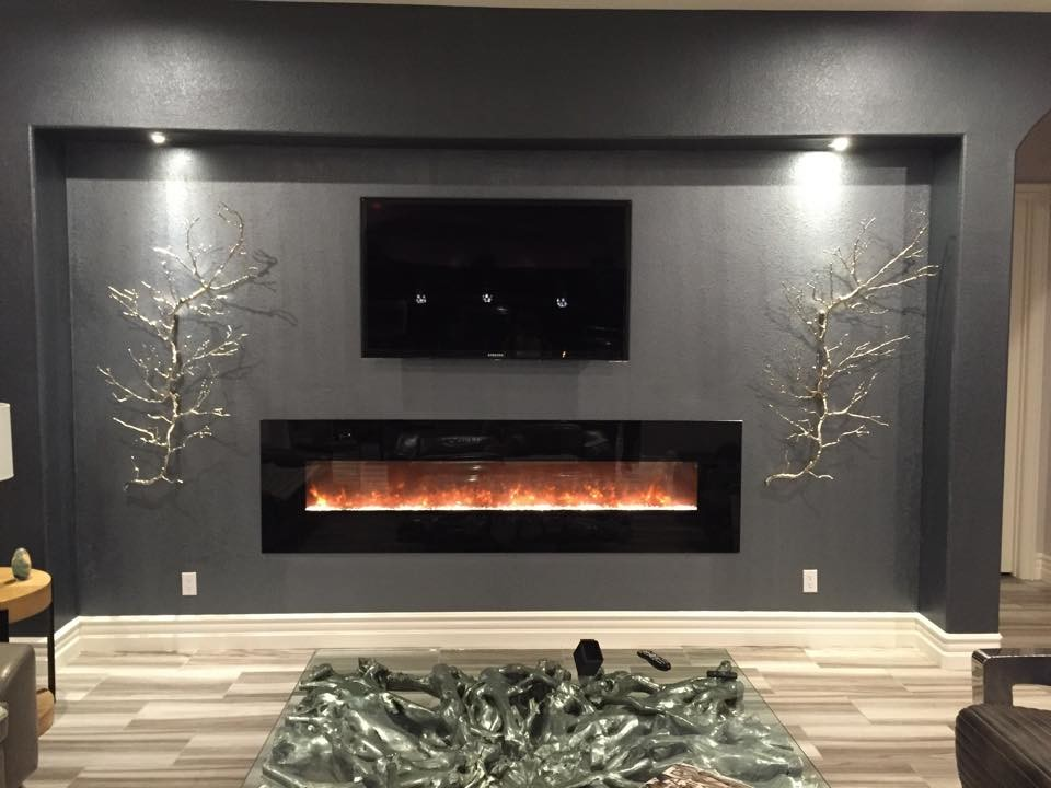 Yosemite Home Decor Living Room Modern with Built in Fireplace Electric Fireplace Hidden Tv Components Wall Mount Fireplace 1