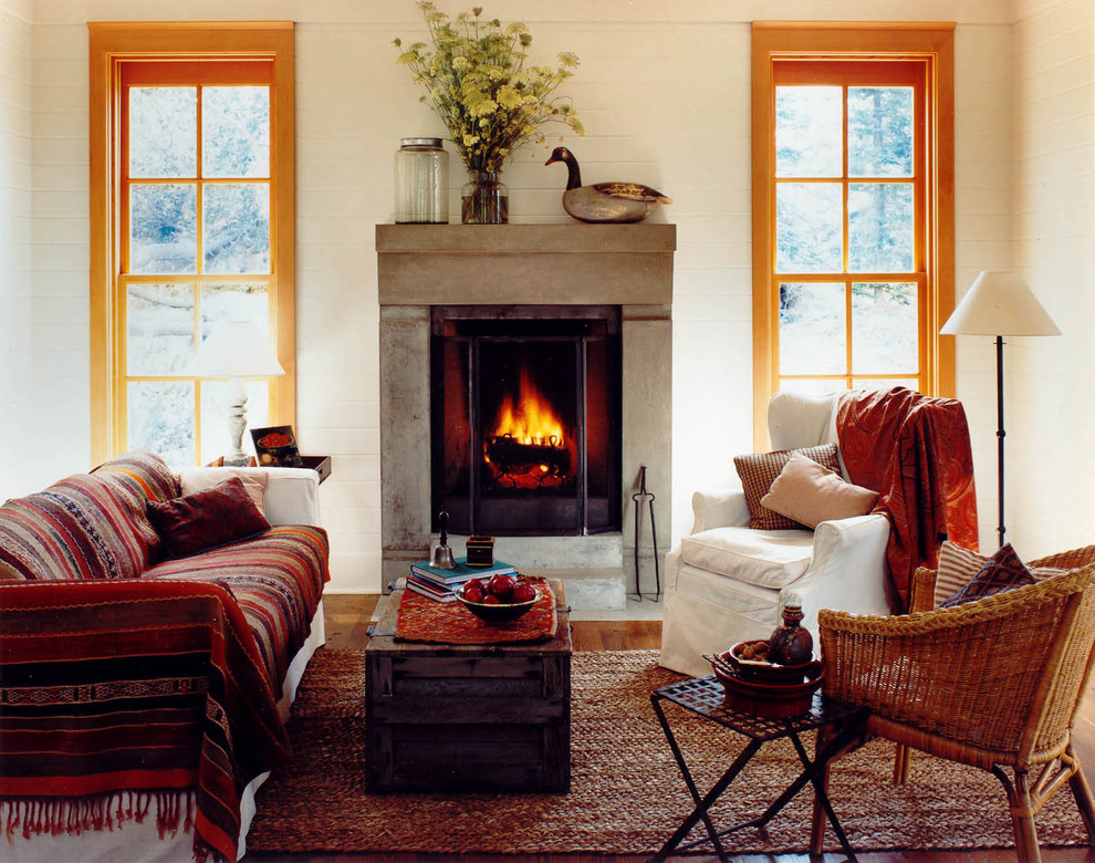 affordable throw pillows Living Room Rustic with built-in bench built-in bookshelves