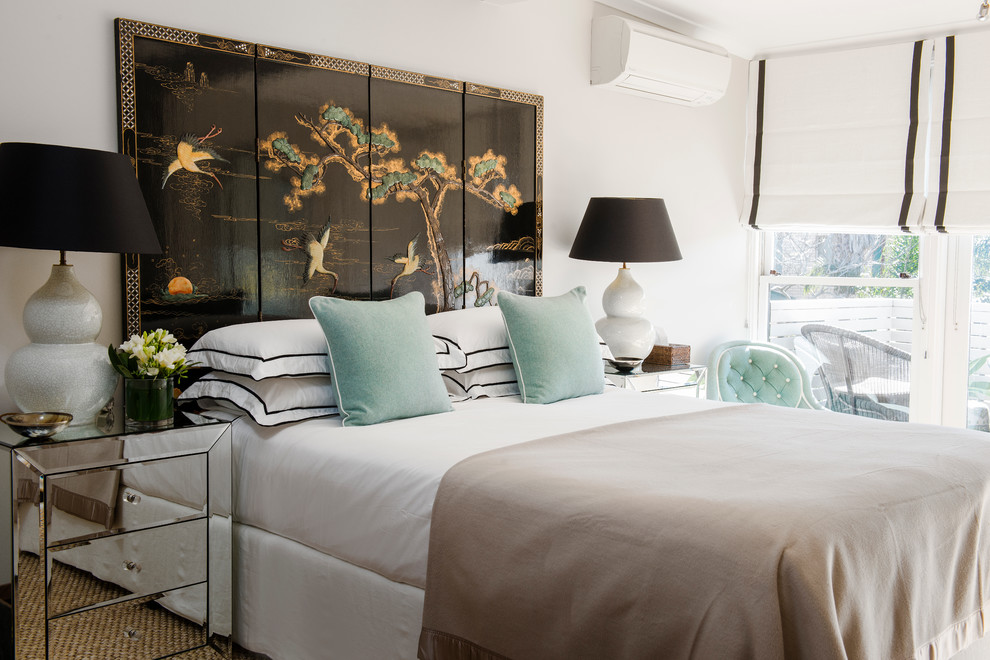 aqua throw pillows Bedroom Traditional with Asian Screen Bedroom black