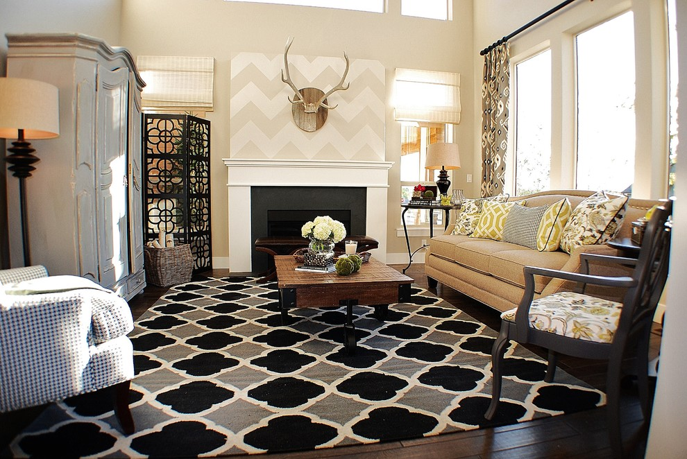 Chevron Print Pillows Living Room Eclectic with Categoryliving Roomstyleeclecticlocationboise