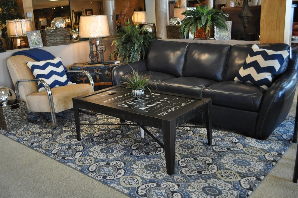 Chevron Print Pillows Living Room Industrial with Beige Accent Chair Blue