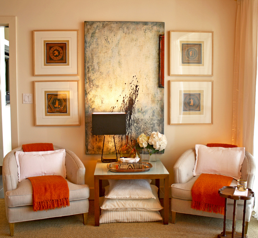 Coral Color Throw Pillows Bedroom Transitional with Armchair Club Chair Decorative
