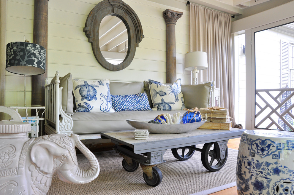 Decorative Pillows Coral Porch Eclectic with Black and White Lampshade