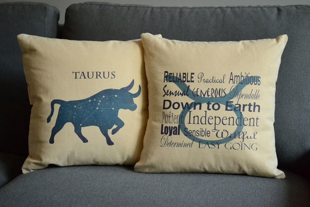 Decorative Throw Pillow Covers Family Room Modern with 13 Zodiac Astrological Decorations