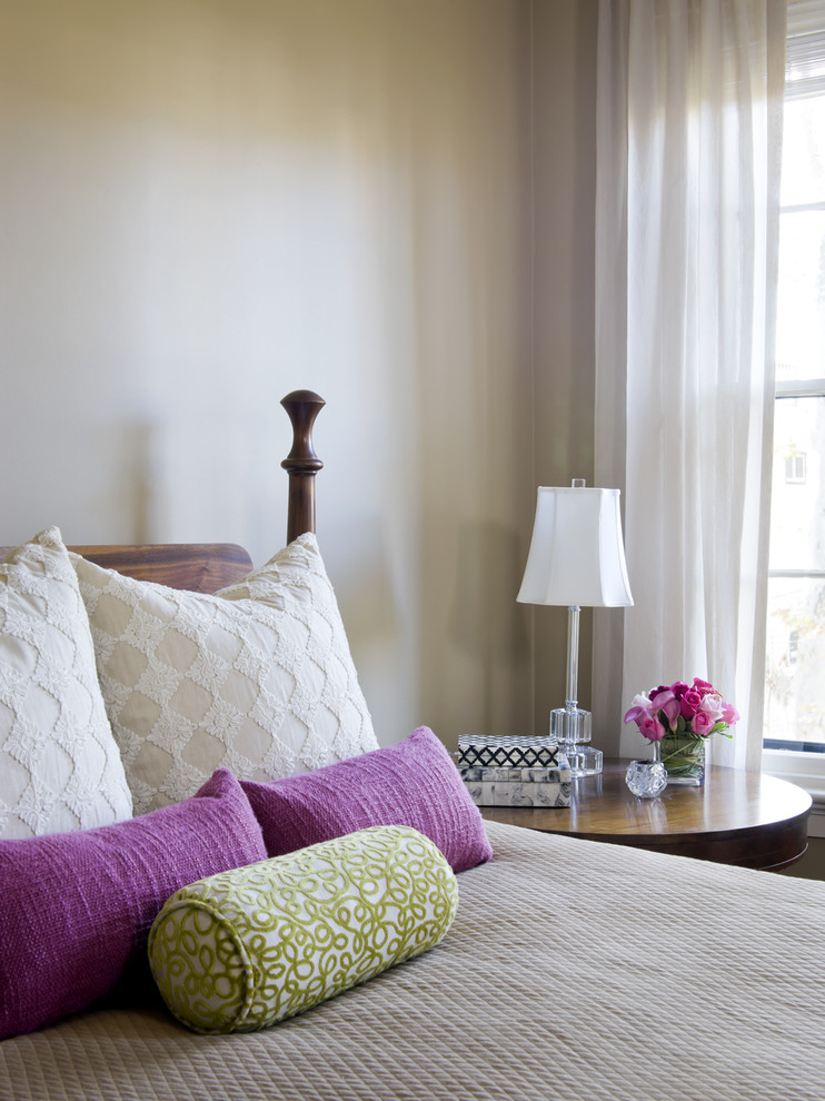 Down Filled Throw Pillows Bedroom Eclectic with Accent Colors Bed Pillows