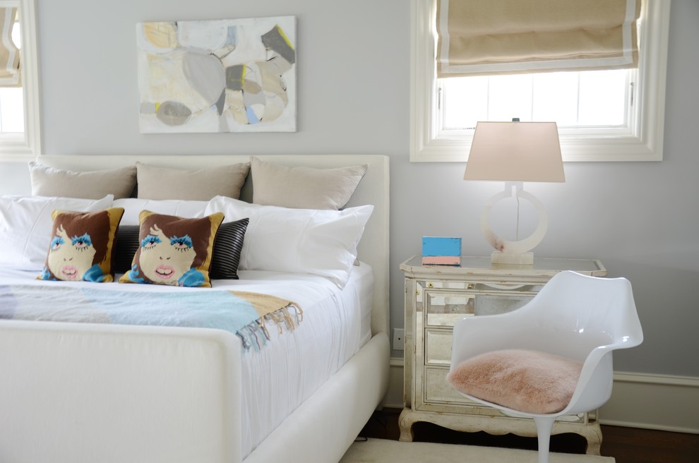 Faux Fur Throw Pillow Bedroom Transitional with Colorful Accents Comfortable Space