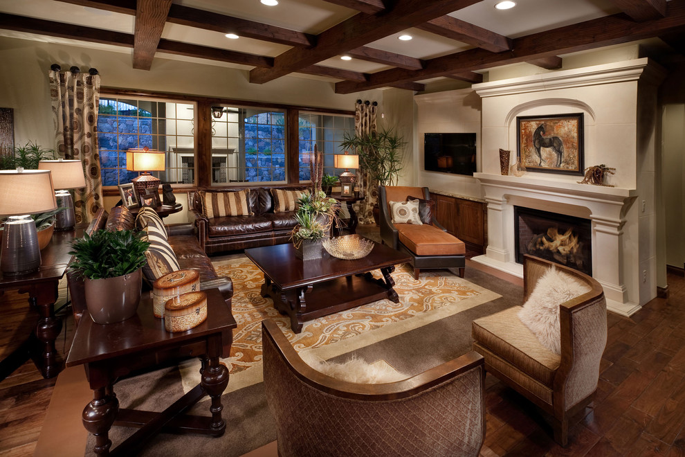 Fuzzy Pillow Family Room Mediterranean with Accent Tables Area Rug
