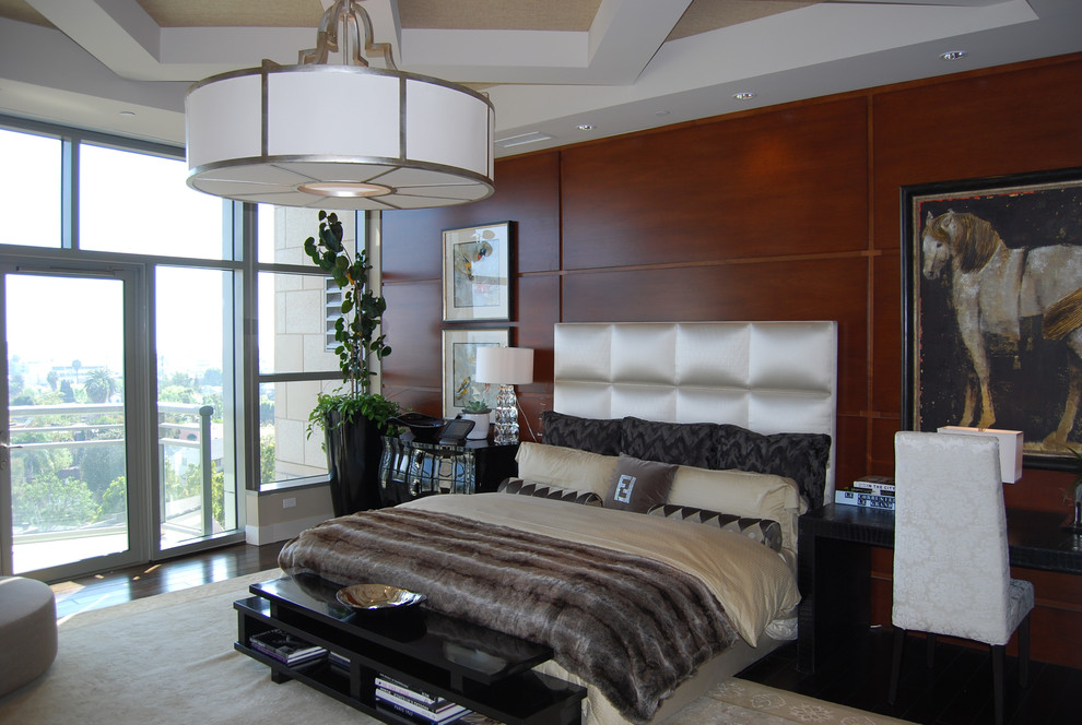 Fuzzy Throw Pillows Bedroom Contemporary with Custom Ceilings Stained Accent