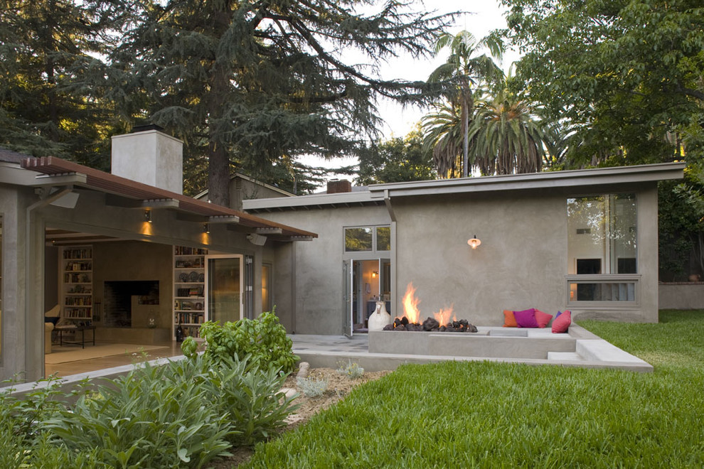 Giant Throw Pillows Exterior Contemporary with Built in Seating Concrete
