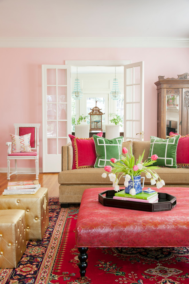 Inexpensive Accent Pillows Living Room Shabby Chic with Area Rug Bella Pink