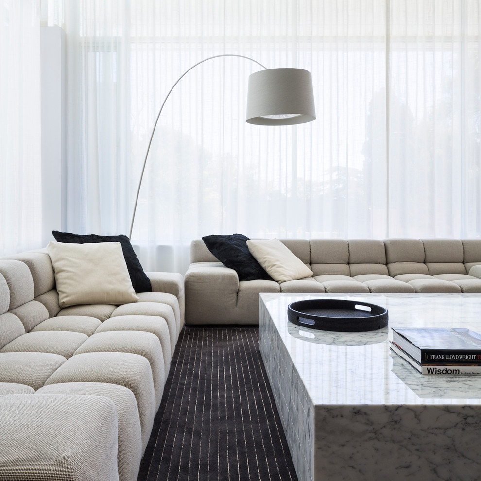 large couch pillow Living Room Contemporary with Adelaide interior design beige