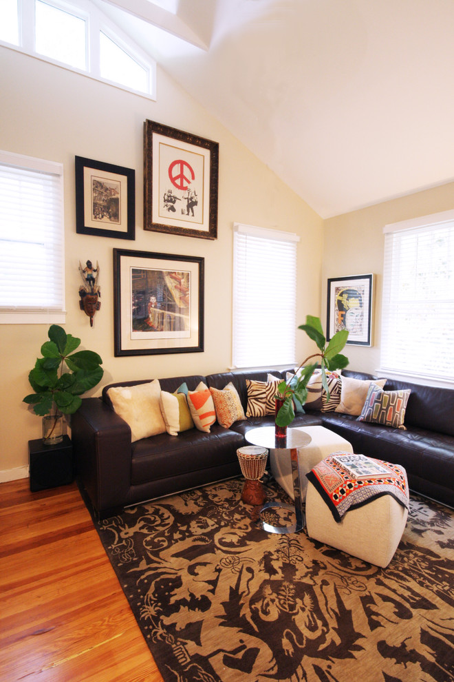Metallic Throw Pillows Living Room Eclectic with Area Rug Brown And