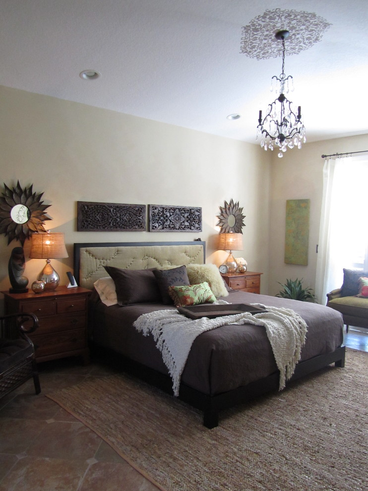 Mohair Pillows Bedroom Eclectic with Area Rug Bed Tray