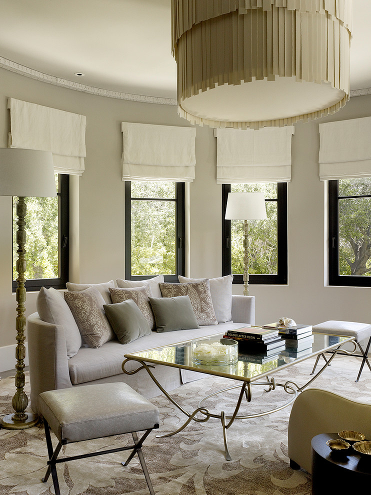 Oversized Couch Pillows Living Room Contemporary with Baseboards Casement Windows Curved