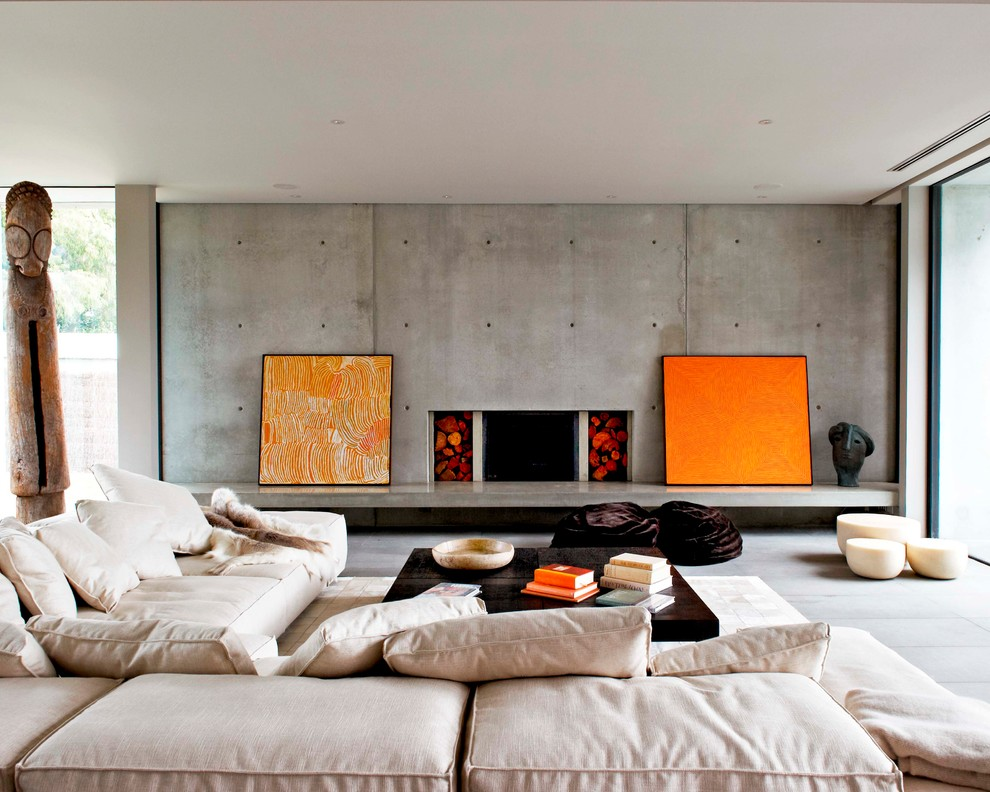 Oversized Sofa Pillows Living Room Contemporary with Art Coffee Table Concrete