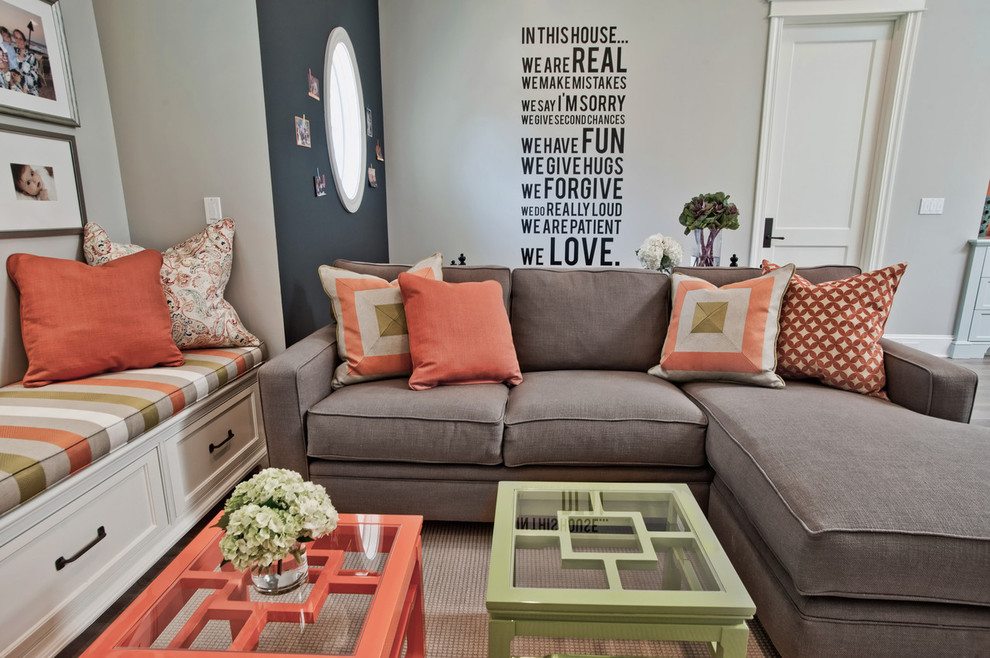 Peach Throw Pillows Living Room Contemporary with Beige Rug Black Accent