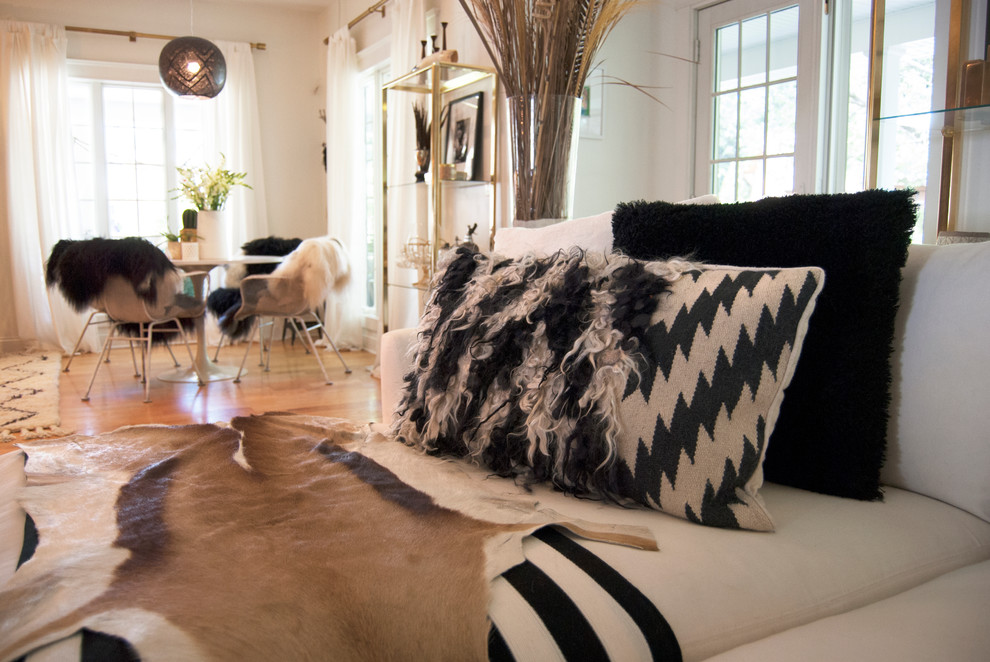 Pillow Cases for Body Pillows Spaces Eclectic with Animal Hyde Black White