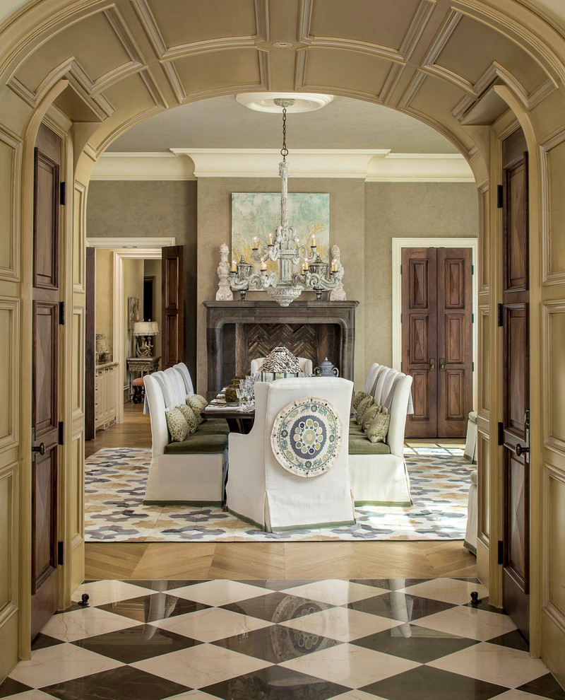 Pillow Slipcover Dining Room Traditional with Architrave Artwork Ceiling Medallion