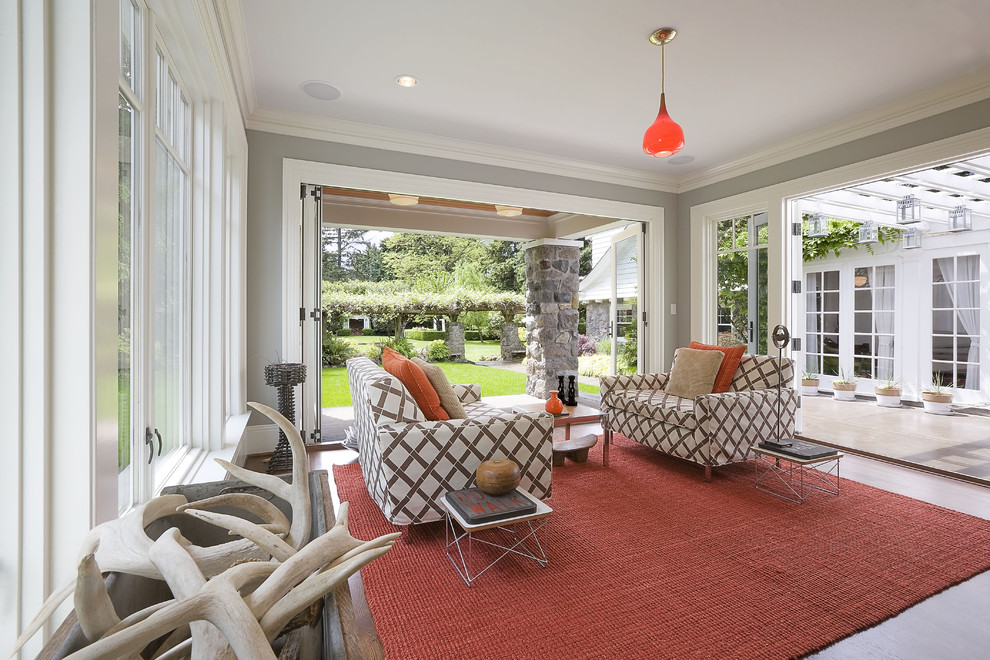Pillow Slipcover Sunroom Traditional with Antlers Area Rug Crown
