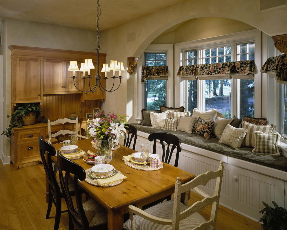 Plaid Throw Pillows Dining Room Traditional with Arch Arched Window Bay