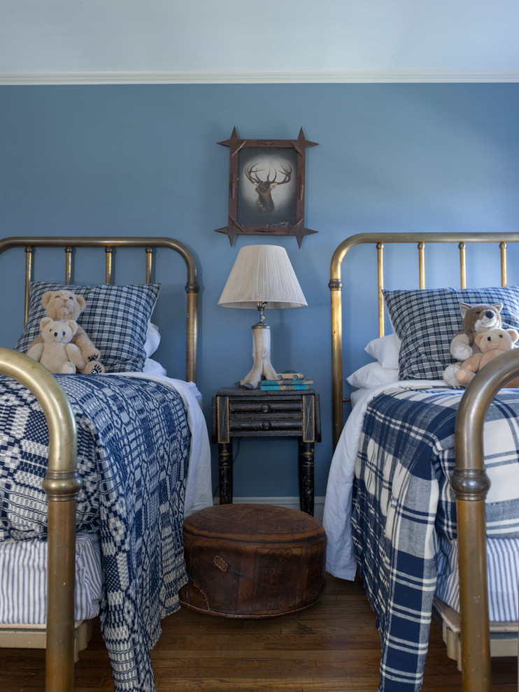 Plaid Throw Pillows Kids Farmhouse with Antique Animal Painting Antique