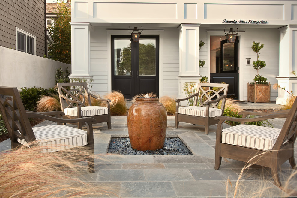 Pottery Barn Outdoor Cushions Patio Beach with Coastal Entrance Entry Fountain