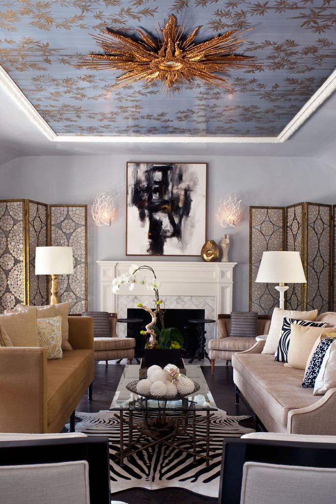 Purple Couch Pillows Living Room Transitional with Blue and Brown Capiz