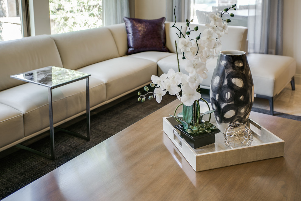 purple toss pillows Family Room Contemporary with Baker cocktail table contemporary