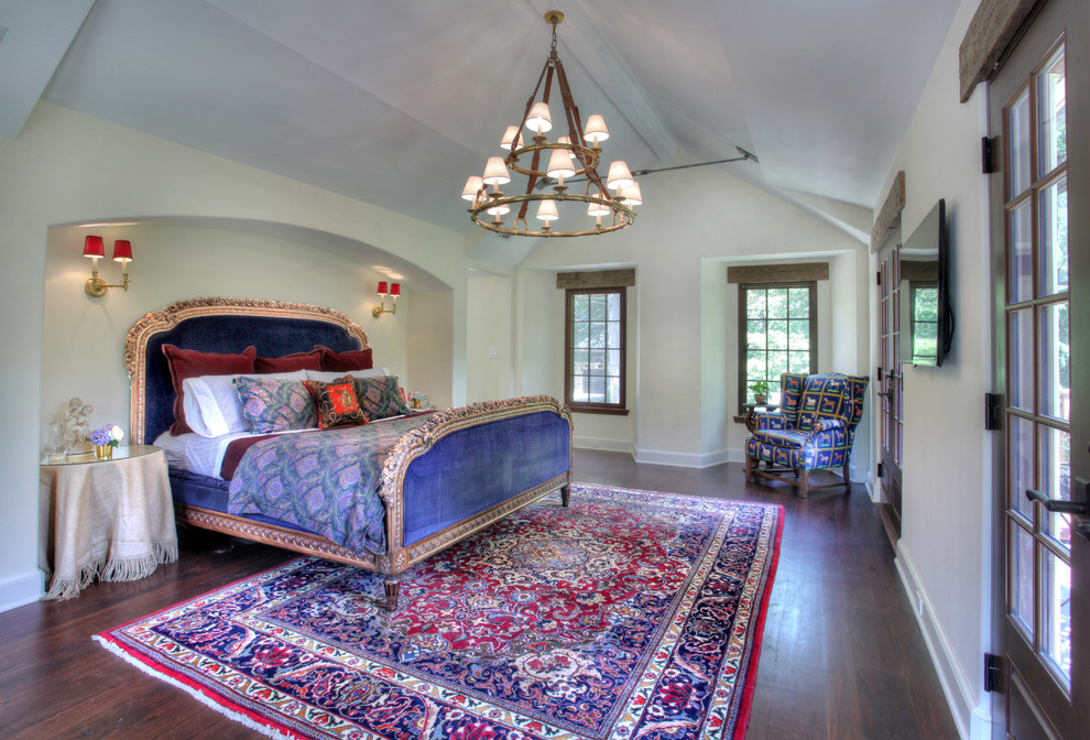 Ralph Lauren Down Pillow Bedroom Farmhouse with Area Rug Country Estate