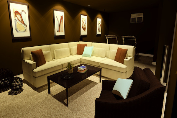 Rust Throw Pillows Home Theater Modernwith Categoryhome Theaterstylemodern
