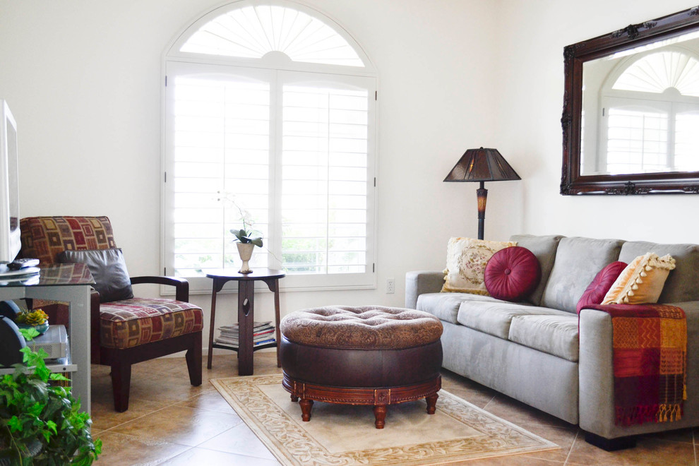 Tempurpedic Pillow Family Room Mediterranean with Arched Transom Window Custom