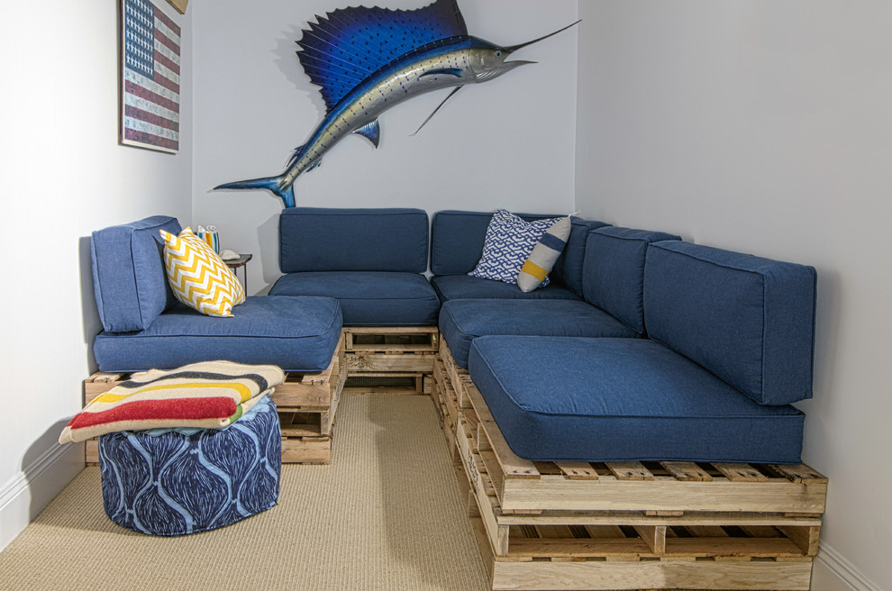 throw pillows for couch cheap Basement Beach with american flag beige carpet